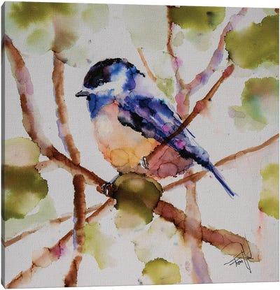 Chickadee Dee Dee Canvas Art Print