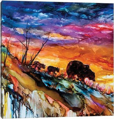 Child Bearing Canvas Art Print