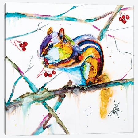 Chipmunk Cheeks Canvas Print #LSF16} by Art by Leslie Franklin Art Print