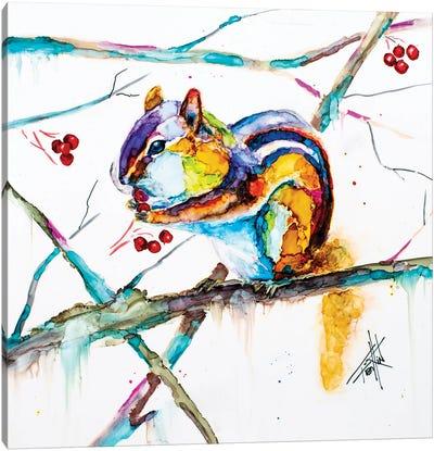 Chipmunk Cheeks Canvas Art Print