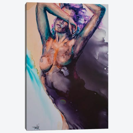Dance Like Nobody's Watching Canvas Print #LSF17} by Art by Leslie Franklin Art Print