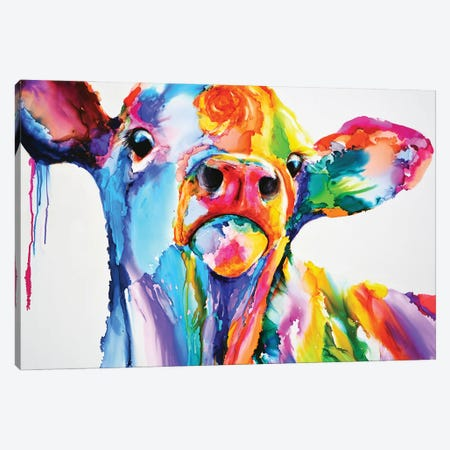 Do These Colours Make My Calves Look Fat Canvas Print #LSF18} by Art by Leslie Franklin Canvas Art