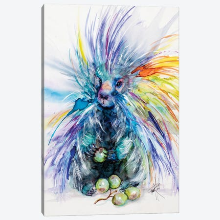 Don't I Look Sharp Canvas Print #LSF19} by Art by Leslie Franklin Canvas Wall Art