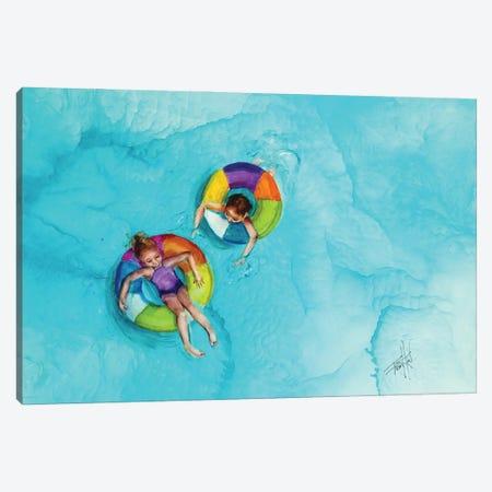 Don't Splash Canvas Print #LSF20} by Art by Leslie Franklin Canvas Art Print