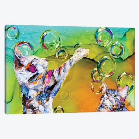 Double Bubble Canvas Print #LSF21} by Art by Leslie Franklin Canvas Art Print