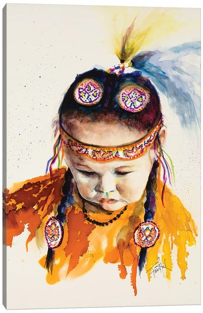 First Nations Powwow Princess Canvas Art Print