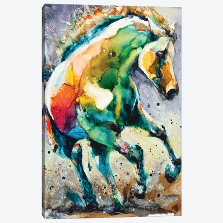 Horse of Another Color Canvas Print #LSF29} by Art by Leslie Franklin Art Print