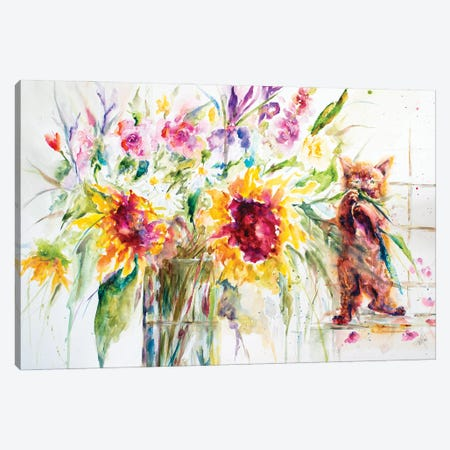 Almost a Still Life Canvas Print #LSF2} by Art by Leslie Franklin Canvas Artwork