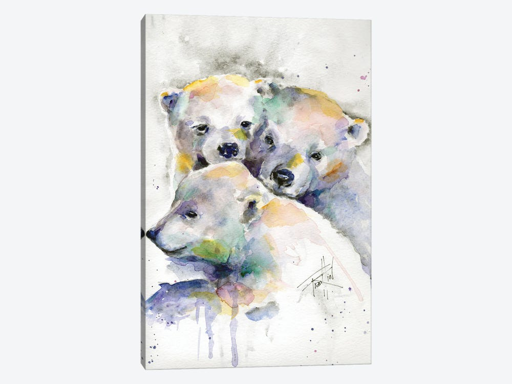 Huddled for Warmth by Art by Leslie Franklin 1-piece Art Print