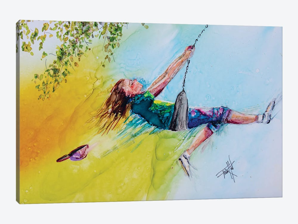 I Can Touch the Sky by Art by Leslie Franklin 1-piece Canvas Artwork