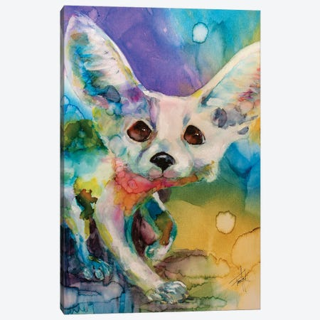 I'm a Bit Fennec-y Canvas Print #LSF32} by Art by Leslie Franklin Canvas Wall Art