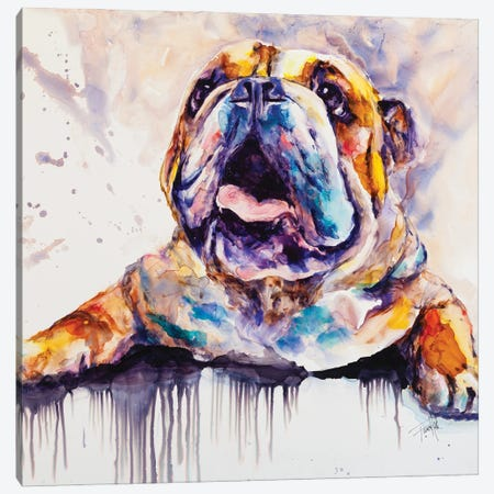 I'm Feeling Peckish Canvas Print #LSF33} by Art by Leslie Franklin Canvas Wall Art
