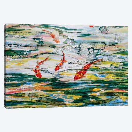 Koi Pond Canvas Print #LSF35} by Art by Leslie Franklin Canvas Print