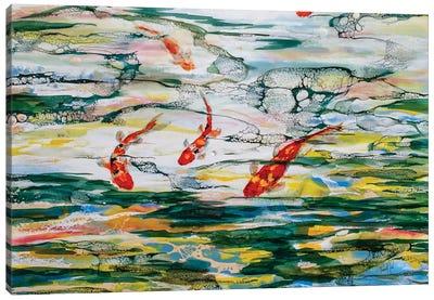 Koi Pond Canvas Art Print