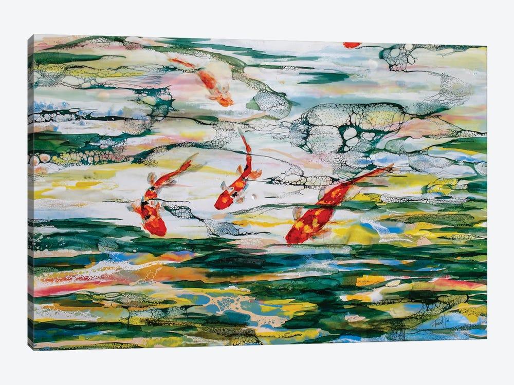 Koi Pond by Art by Leslie Franklin 1-piece Canvas Artwork