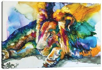 Lion Around Canvas Art Print