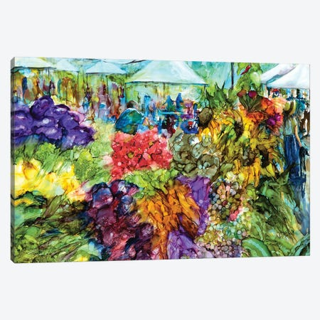 At the Market Canvas Print #LSF3} by Art by Leslie Franklin Canvas Wall Art