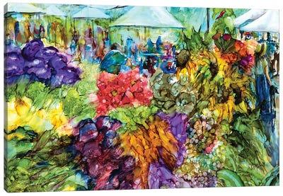 At the Market Canvas Art Print