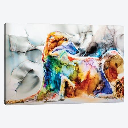 Oh Boy a Borzoi Canvas Print #LSF42} by Art by Leslie Franklin Canvas Print