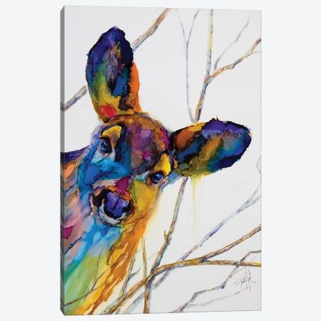 Oh Deer Canvas Print #LSF43} by Art by Leslie Franklin Art Print