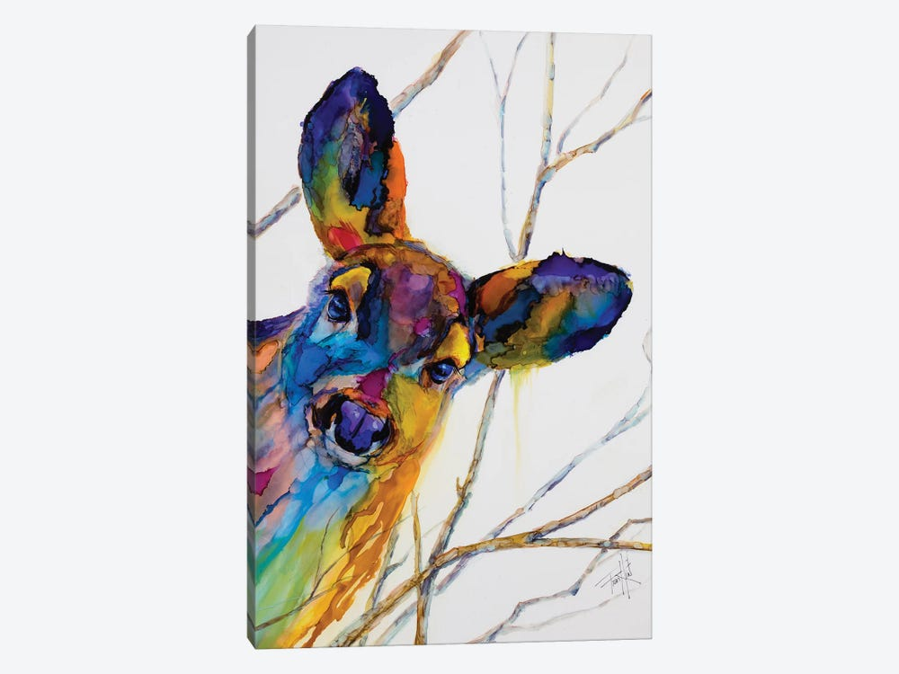 Oh Deer by Art by Leslie Franklin 1-piece Canvas Art Print