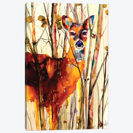 Oh Deer II Canvas Print #LSF44} by Art by Leslie Franklin Canvas Art