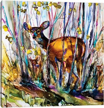 Oh Deer Me, I See Three Canvas Art Print