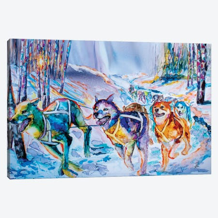 Paws in Motion Canvas Print #LSF48} by Art by Leslie Franklin Canvas Print