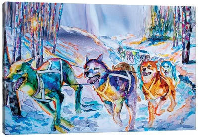 Paws in Motion Canvas Art Print