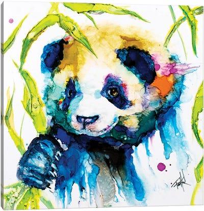 Bamboo Anda Panda Canvas Art Print