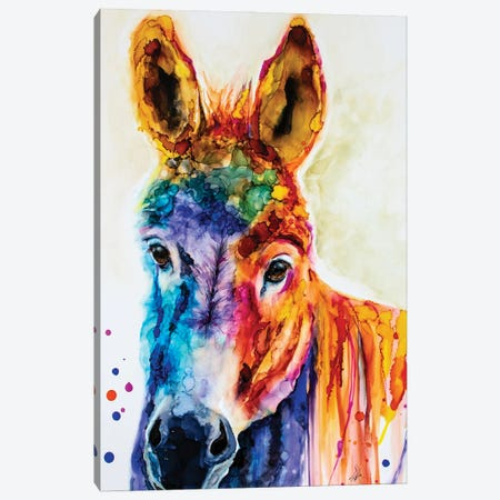 Pin the Tail on the What Canvas Print #LSF50} by Art by Leslie Franklin Canvas Art