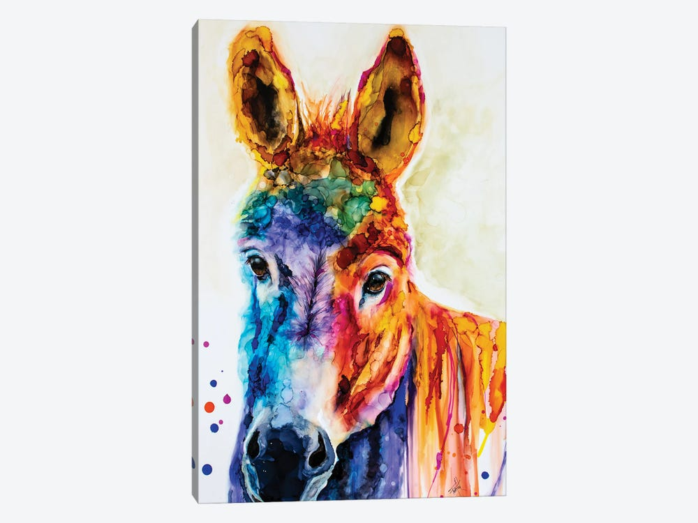 Pin the Tail on the What by Art by Leslie Franklin 1-piece Canvas Art Print
