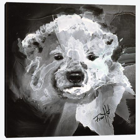 Polar Bear Cub Canvas Print #LSF51} by Art by Leslie Franklin Canvas Art