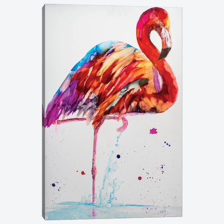 Pretty in Pink Canvas Print #LSF52} by Art by Leslie Franklin Canvas Artwork