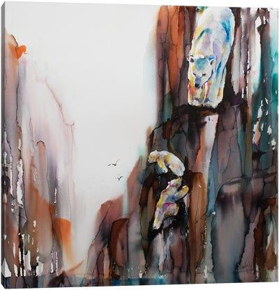 Bears on the Rocks Canvas Art Print
