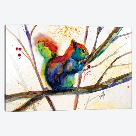 Squirreled Away Canvas Print #LSF60} by Art by Leslie Franklin Art Print