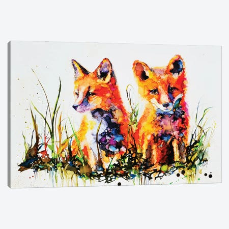 The Redhead Twins Canvas Print #LSF64} by Art by Leslie Franklin Canvas Artwork