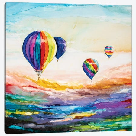 Up Up and Away Canvas Print #LSF70} by Art by Leslie Franklin Canvas Art