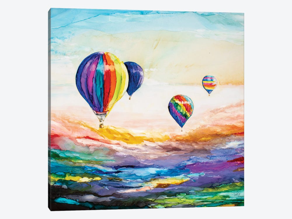 Up Up and Away by Art by Leslie Franklin 1-piece Canvas Print