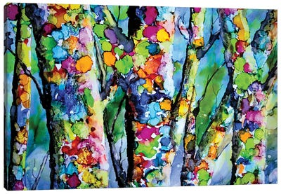 Birches with Bling Canvas Art Print