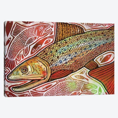 Trout Run Canvas Print #LSH109} by Lynnette Shelley Canvas Artwork