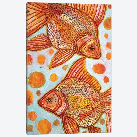 Two Goldfish Canvas Print #LSH115} by Lynnette Shelley Canvas Artwork