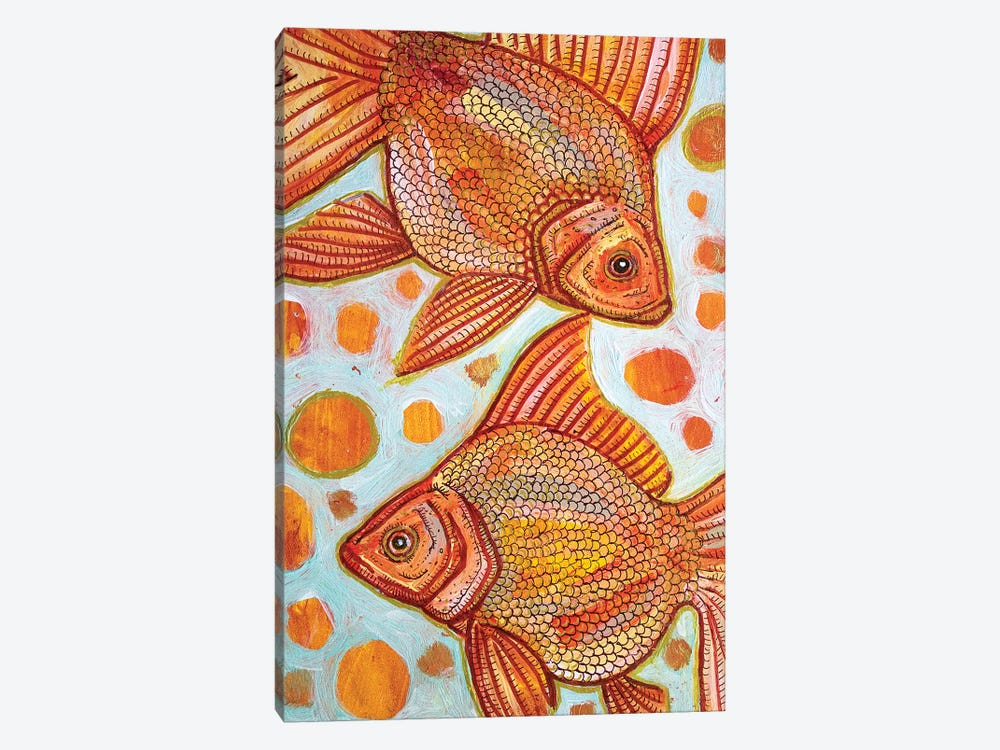 Two Goldfish by Lynnette Shelley 1-piece Canvas Wall Art