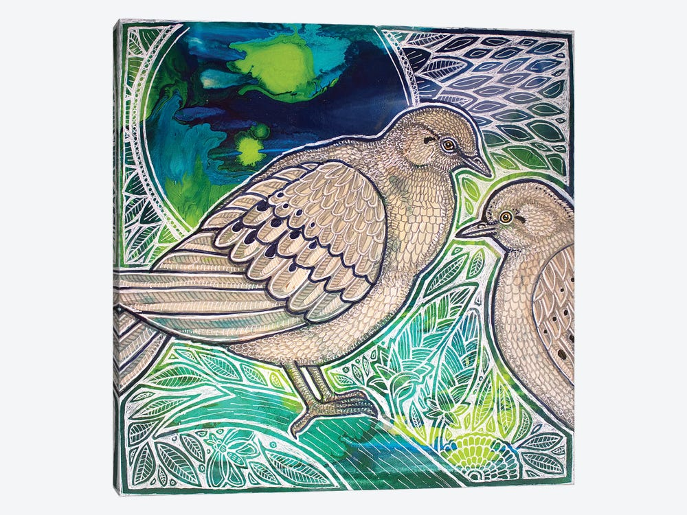 Two Mourning Doves by Lynnette Shelley 1-piece Canvas Print