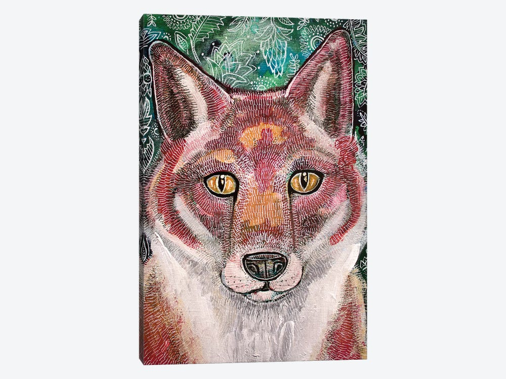 Waiting Fox by Lynnette Shelley 1-piece Canvas Artwork