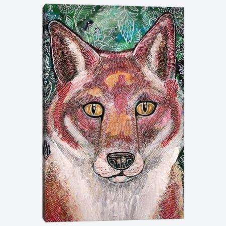 Waiting Fox Canvas Print #LSH120} by Lynnette Shelley Canvas Artwork