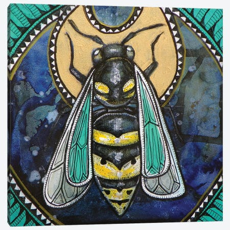 Wasp Totem Canvas Print #LSH123} by Lynnette Shelley Canvas Art