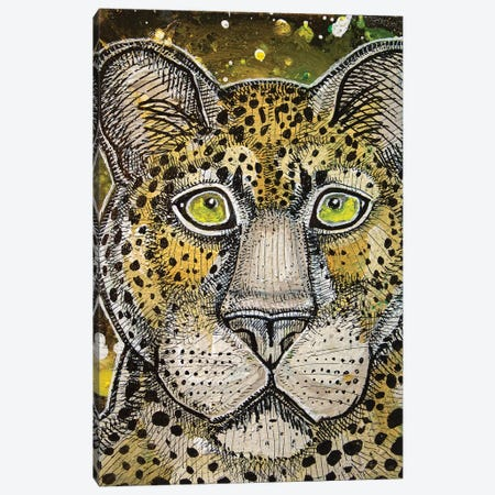 Watching Leopard Canvas Print #LSH124} by Lynnette Shelley Canvas Print