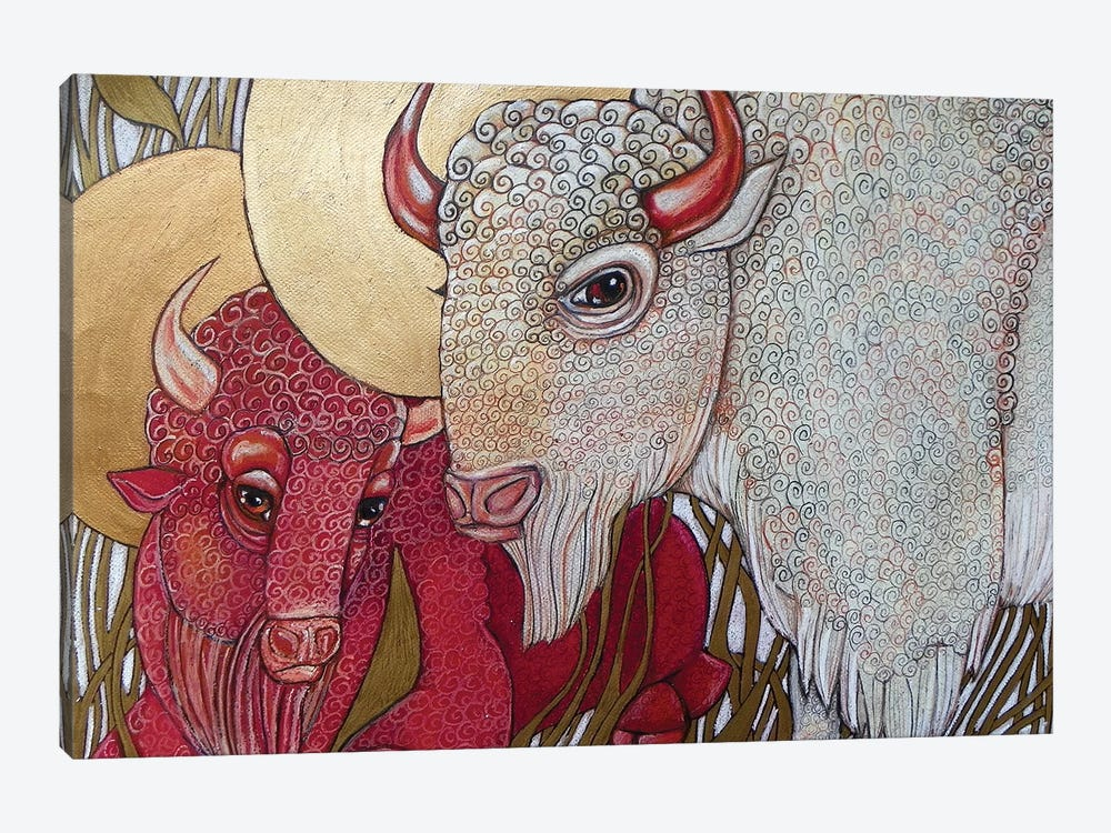 White Buffalo by Lynnette Shelley 1-piece Canvas Art
