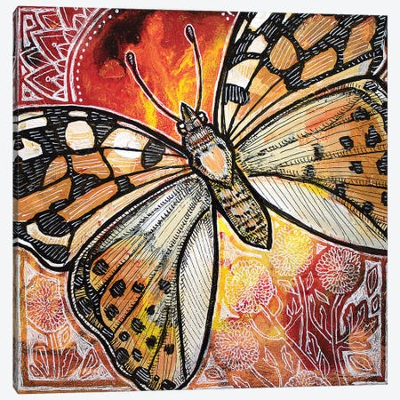 Painted Lady Canvas Print #LSH138} by Lynnette Shelley Canvas Art Print
